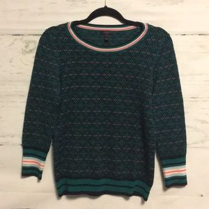 J. Crew Festive Fair Isle Tippi Sweater